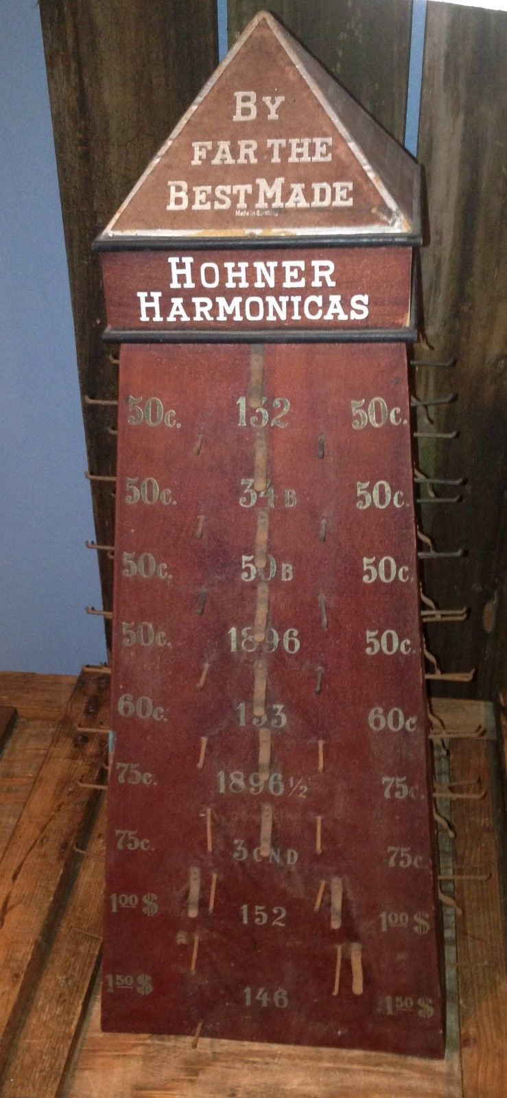 Antique Hohner Harmonica Display