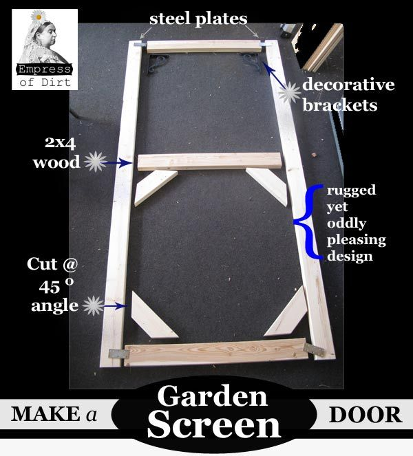 Make A Custom Size Garden Screen Door Empress Of Dirt Diy Screen Door Diy Door Screen Door