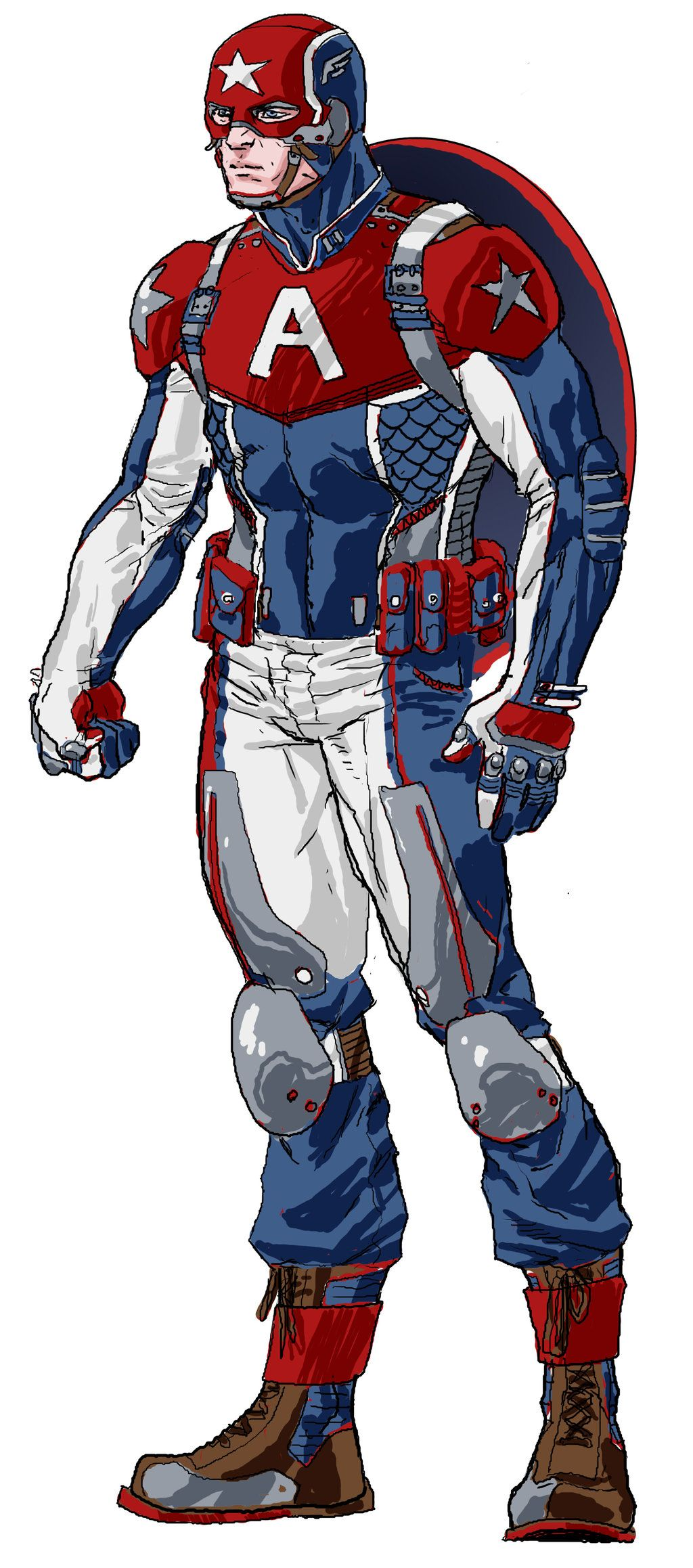 5bfa6c23843 Captain America Redesign. If they put this in the next Cap movie