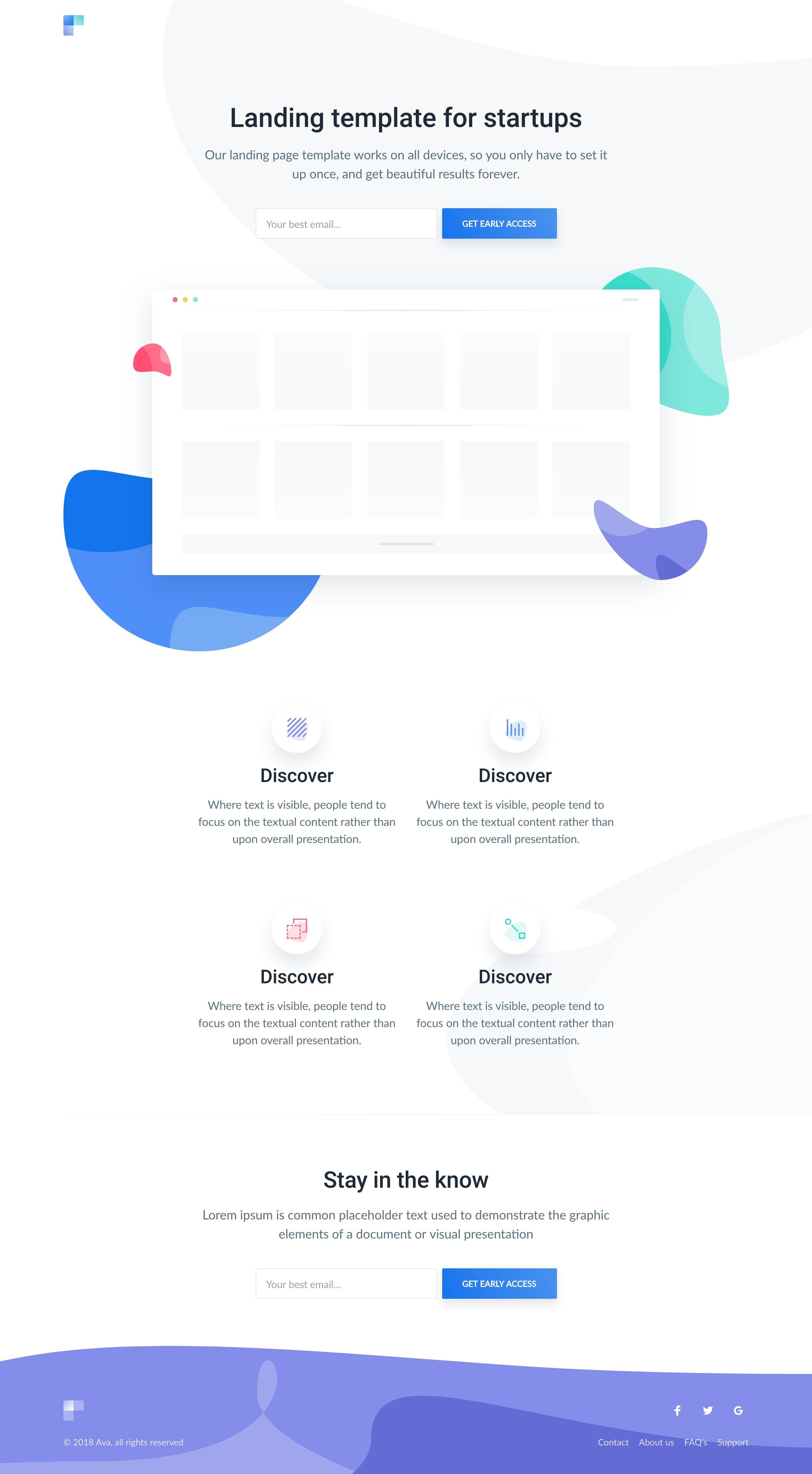 Ava Is A Free Landing Page Html Template By Cruip The Design Really Is Quality For A Freebie And Features An Web Design Tips Web Design Quotes Landing Page