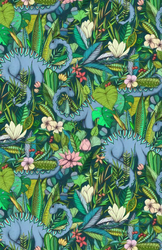 Medium Scale Improbable Botanical With Dinosaurs