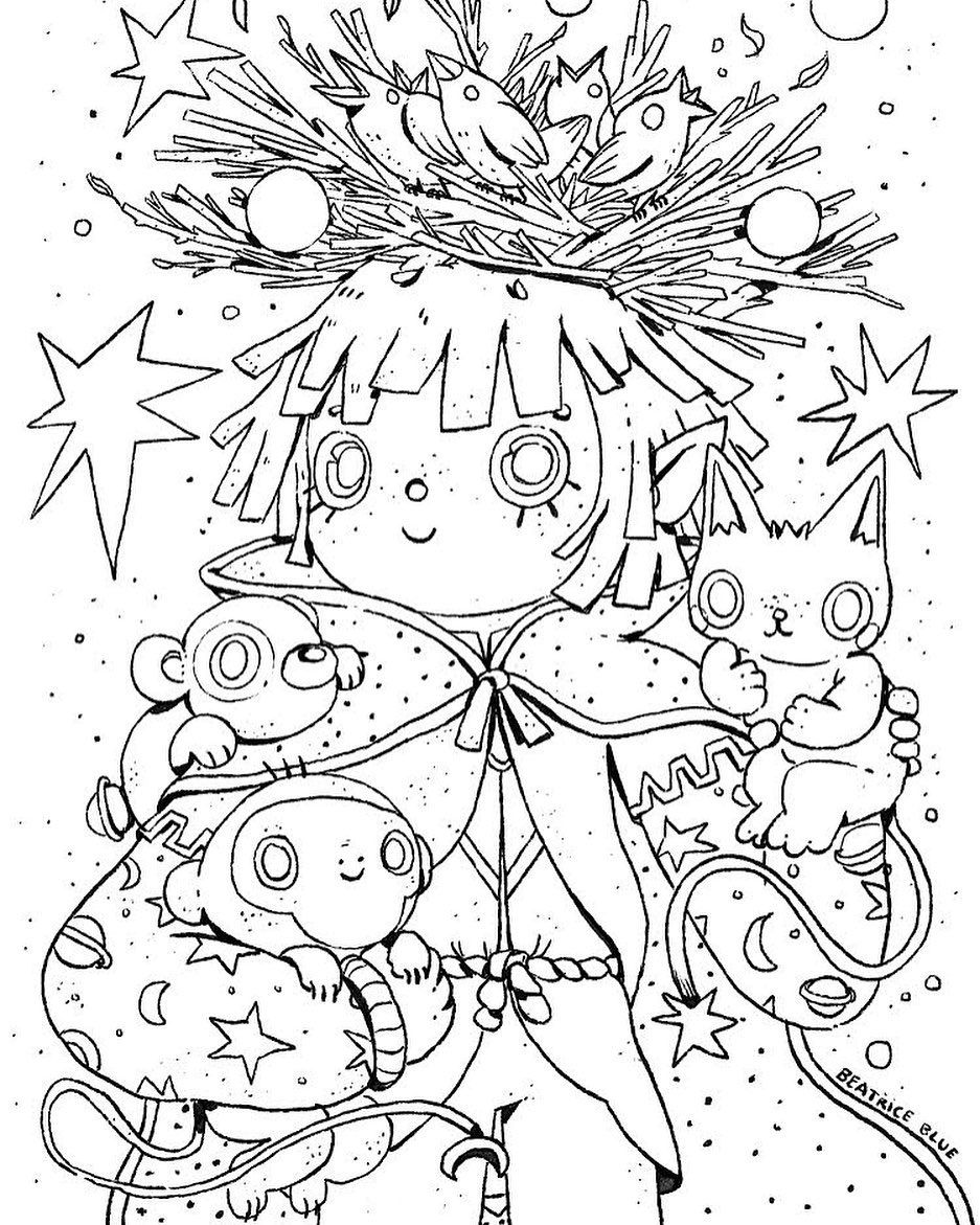 Beatrice Blue On Instagram Coloring Page The Amazing People At Procreate Have Put Together A Set Of Activities And Color Coloring Pages Procreate Color