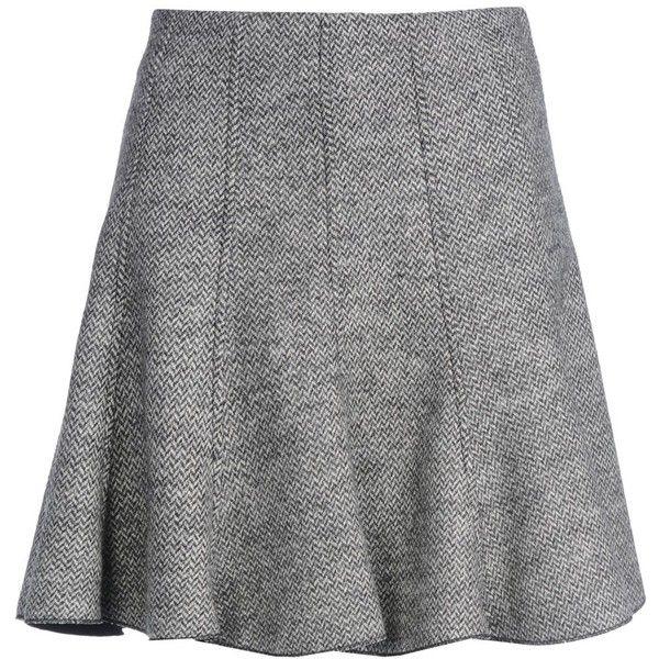 8 Knee Length Skirt (55 BHD) ❤ liked on Polyvore featuring skirts, black, black skirt, knee high skirts, herringbone skirt, black zipper skirt en black knee length skirt