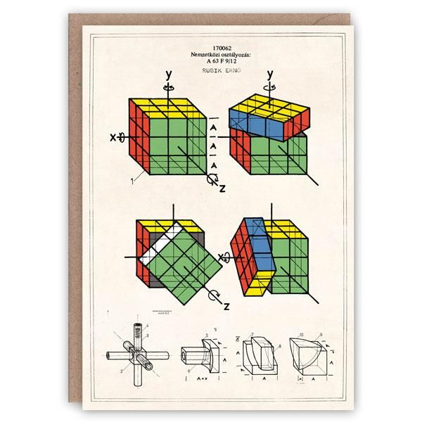 Patent Application Card Rubik's Cube in 2020 Pattern