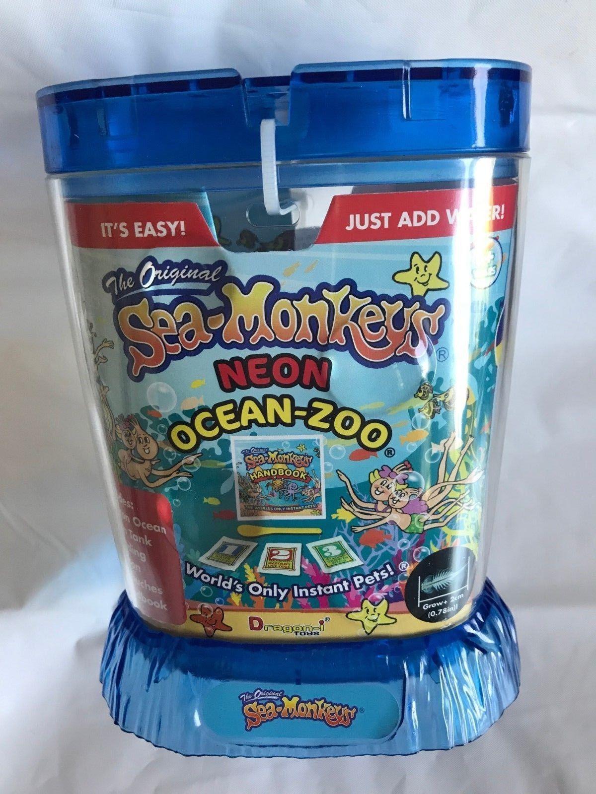 Animals And Nature 31744 Amazing Live Sea Monkeys Ocean Zoo Marine Aquarium Neon Blue 23232 Buy It Now Only 12 81 O Sea Monkeys Farm Animal Toys Zoo Toys