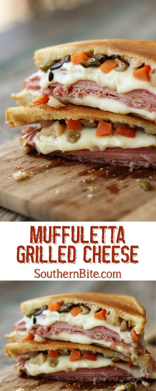 Give the classic Muffuletta a warm, gooey makeover with this Muffuletta Grilled…