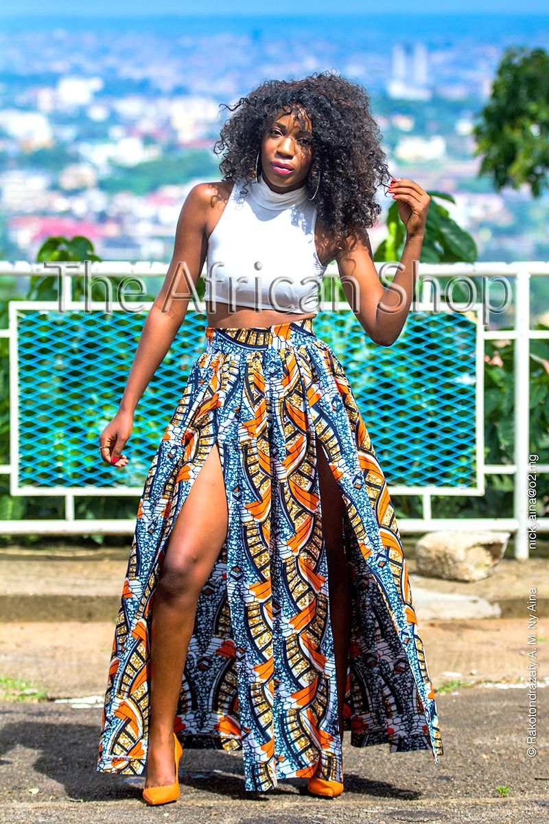 Africa Maxi Skirt from The African Shop… You can shop the skirt ...