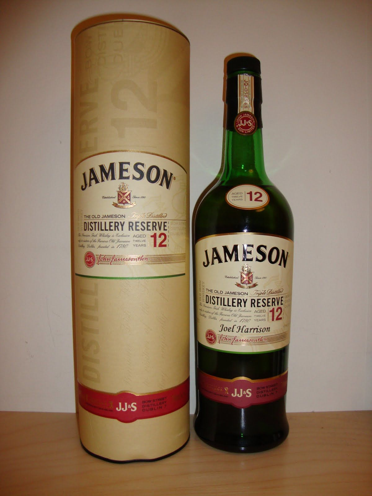 Jameson Distillery Reserve Jameson Irish Whiskey Jameson Distillery Irish Whiskey