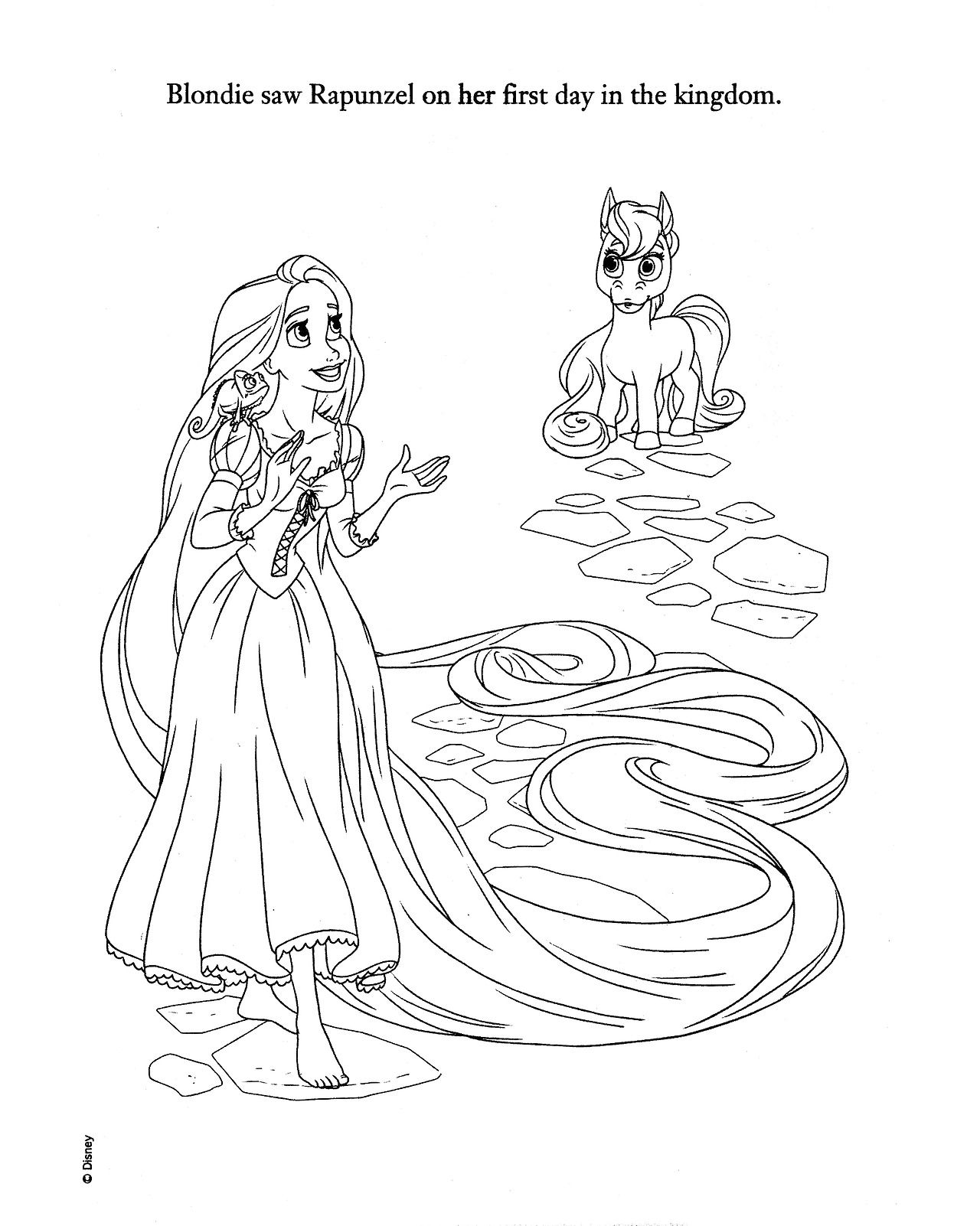 Disney Princess Palace Pets Sweet And Spunky Blondie S Princess Palace Coloring Pages Printable