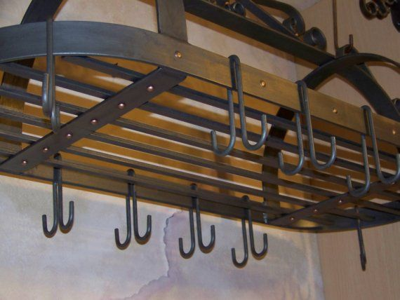 Wrought Iron Pot Rack Special Order For Barb Steel Furniture Iron Furniture Pot Rack