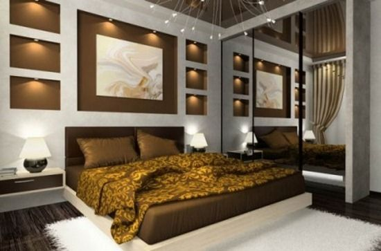 mur brun chocolat accent chambre | maison | Home Decor, Luxurious ...