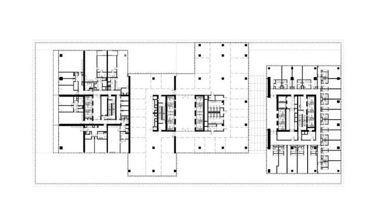 Finn Wilkie Oma De Rotterdam Rotterdam 2013 Www Oma Eu Floor Plan Drawing Rotterdam Floor Plans