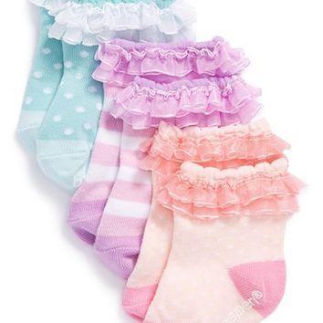 """""""Baby Cakes"""" 3 Pairs of Socks Gift Set  #babycakes #newborn #girl #sock http://timelesstreasure.theaspenshops.com/baby-cakes-sock-gift-set.html"""