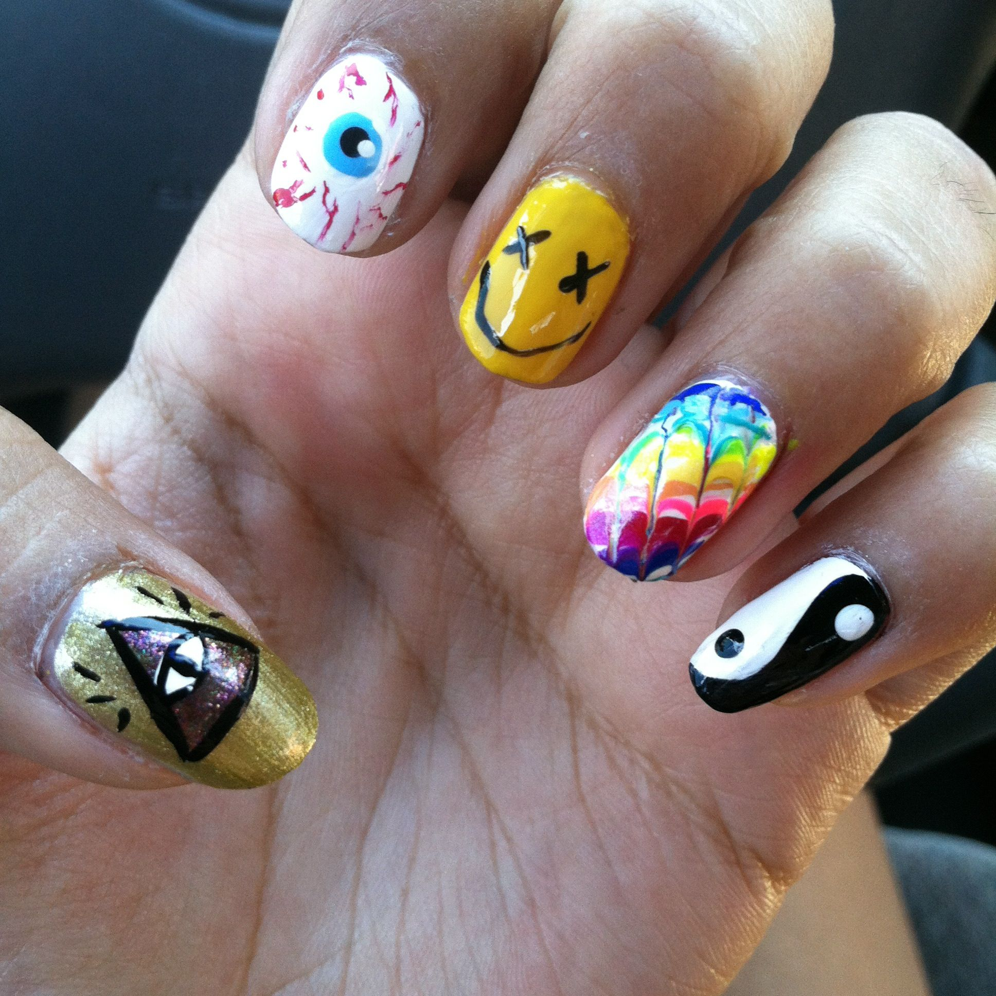 My rad kleur 90s nails | DIY | Pinterest | Nail nail, Makeup and ...