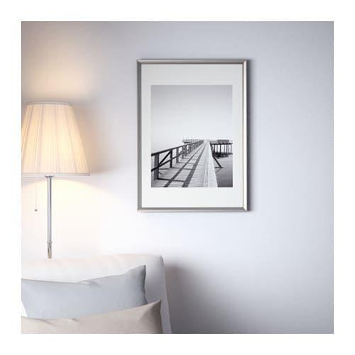 IKEA SILVERHOJDEN Silver Color Frame Ikea, Ikea frames