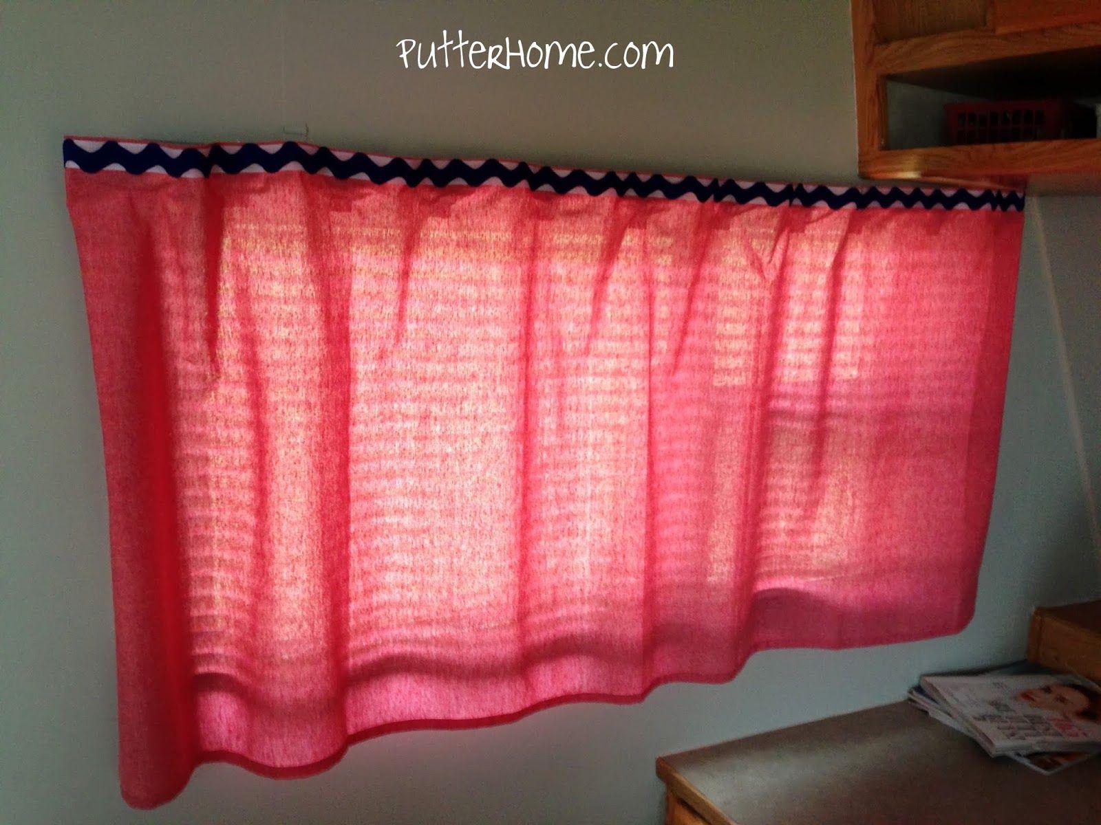 Putter Home | Camper Makeover   No Sew RV Camper Curtains