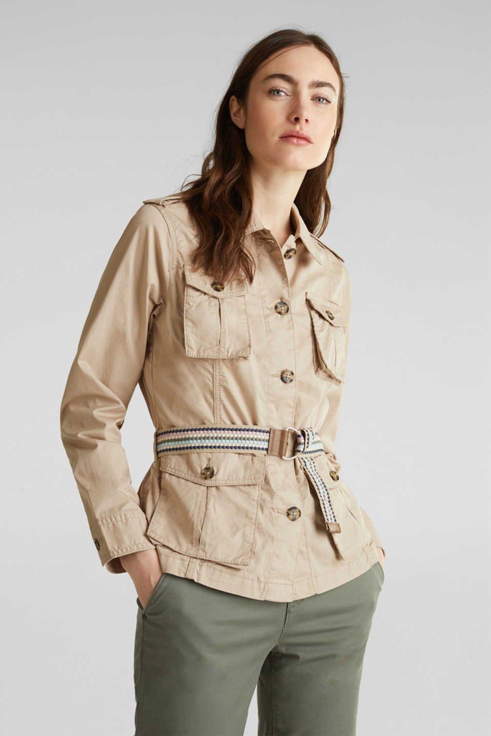 Esprit Utility Jacket With A Belt 100 Organic Cotton At Our Online Shop Utility Jacket Jackets Organic Cotton [ 1436 x 958 Pixel ]