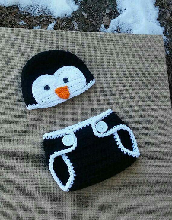 NewBorn Photography Baby penguin Set Baby Shower Gift Penguin Nursery Penguin Baby Set Crochet penguin Baby Set Baby penguin Costume