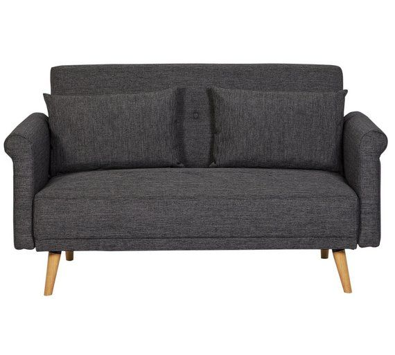 Home 2 Seater Fabric Sofa In A Box Charcoal At Argos Co