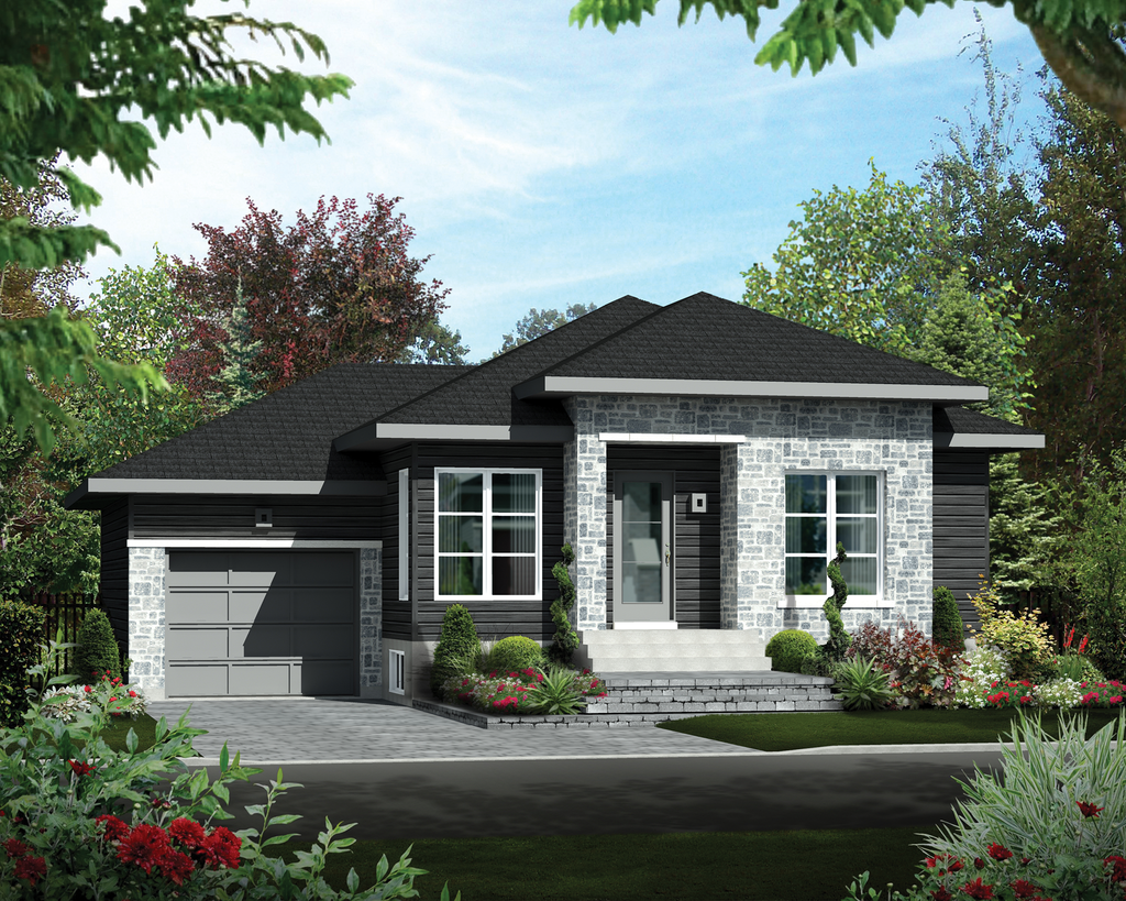 Contemporary Style House Plan 2 Beds 1 Baths 920 Sq Ft Plan 25 4275 Modern Contemporary House Plans Cottage Style House Plans Modern House Exterior