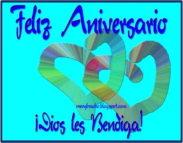 Feliz Aniversario En Espanol: Feliz Aniversario De Bodas. Dios Les Bendiga. Postal