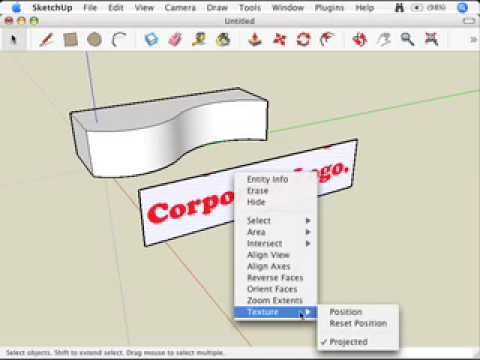 Sketchup Mapping Photo Textures To Curved Surfaces Youtube