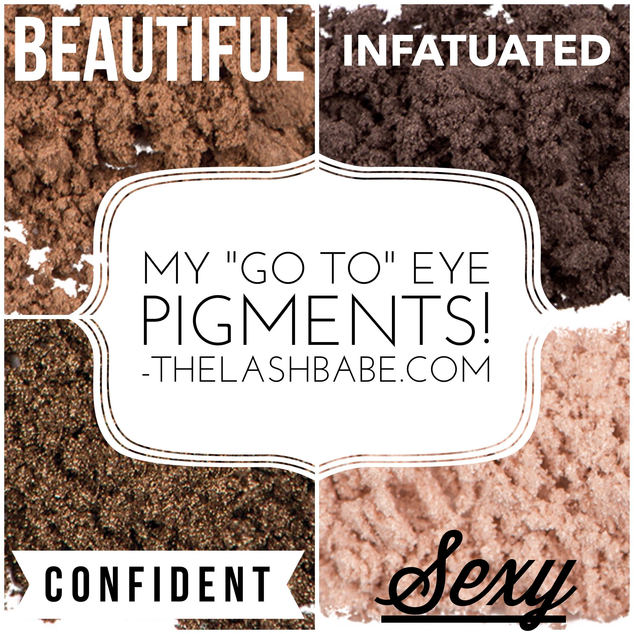 My 4 favorite Mineral Eye Pigments from Younique!! Get all 4 for $45!!