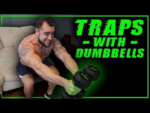 Traps Workout with Dumbbells | Tempo Toughness! - YouTube #trapsworkout