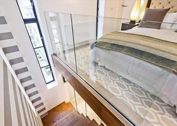 Grand Designs Kennington Water Tower conversion - split level bedroom & dressing room