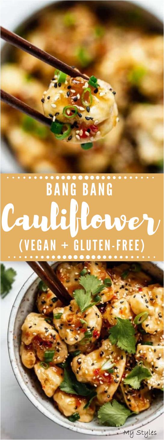BANG BANG COLIFLOR #vegan #vegetarian #cauliflower #mushroom #food #Vegetarian #Recipes #slimming #world