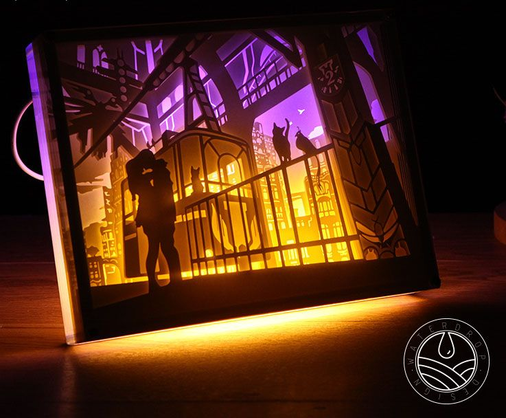 Papercut Light Boxes 3d Shadow Box Led Light Night Lamp Sold By Greenroad Shop More Products From Greenroad On Sto Paper Sculpture 3d Shadow Box 3d Paper Art