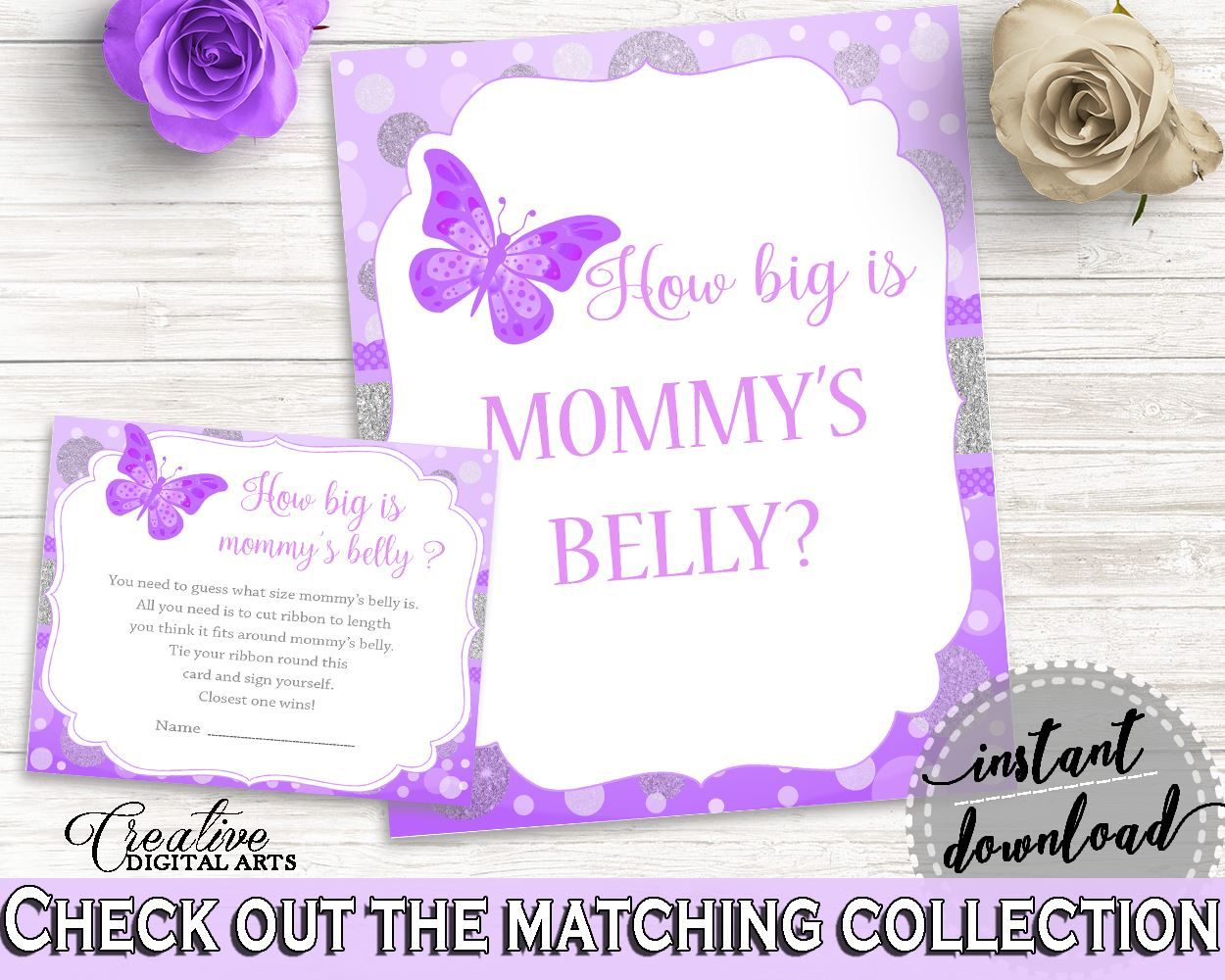 Mommy\'s Belly Baby Shower Mommy\'s Belly Butterfly Baby Shower ...