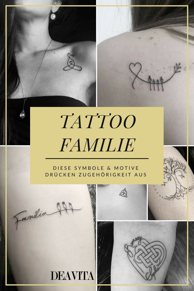 Und tattoo familie liebe Anker