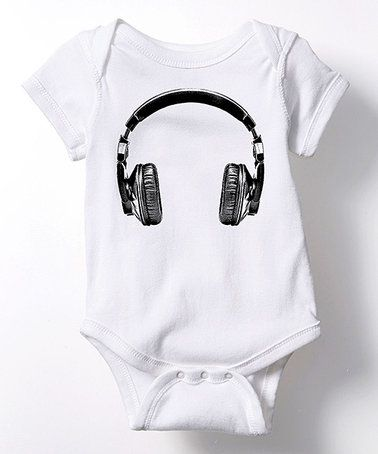 Look at this #zulilyfind! White Headphones Bodysuit - Infant #zulilyfinds