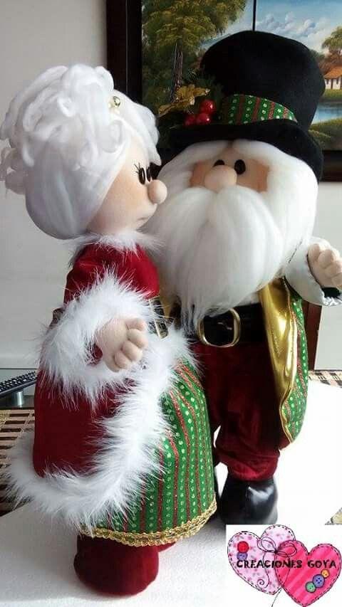 Esposos Claus Natal Pinterest Navidad Manualidades Navidad E