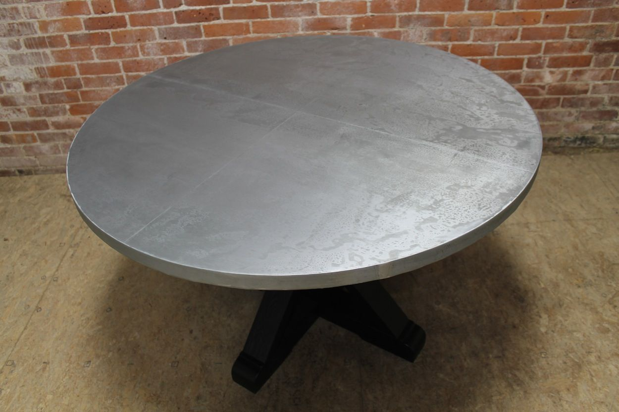 round zinc table  zinc table round dining table table