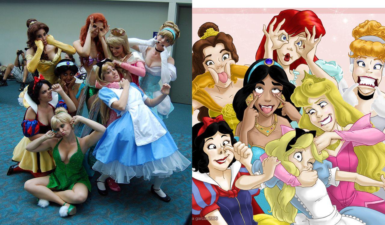 Disney funny faces cosplay disney pinterest les - Prince et princesse disney ...