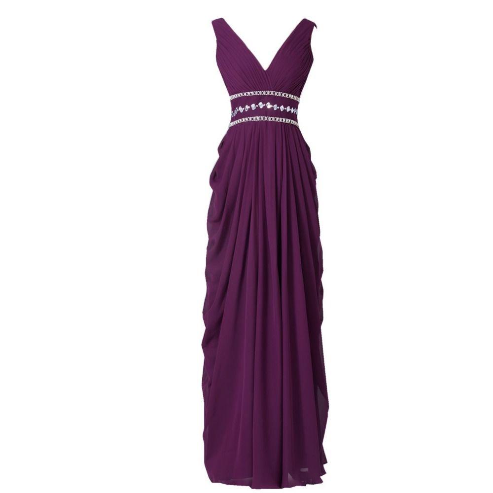 Click to Buy << MDBRIDAL Grape Purple Evening Dress In Dark Purple ...