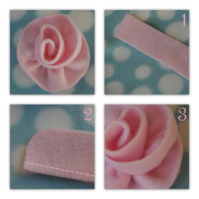 Fleece flowers - for baby girl hats -- how about on a swing coat or ...