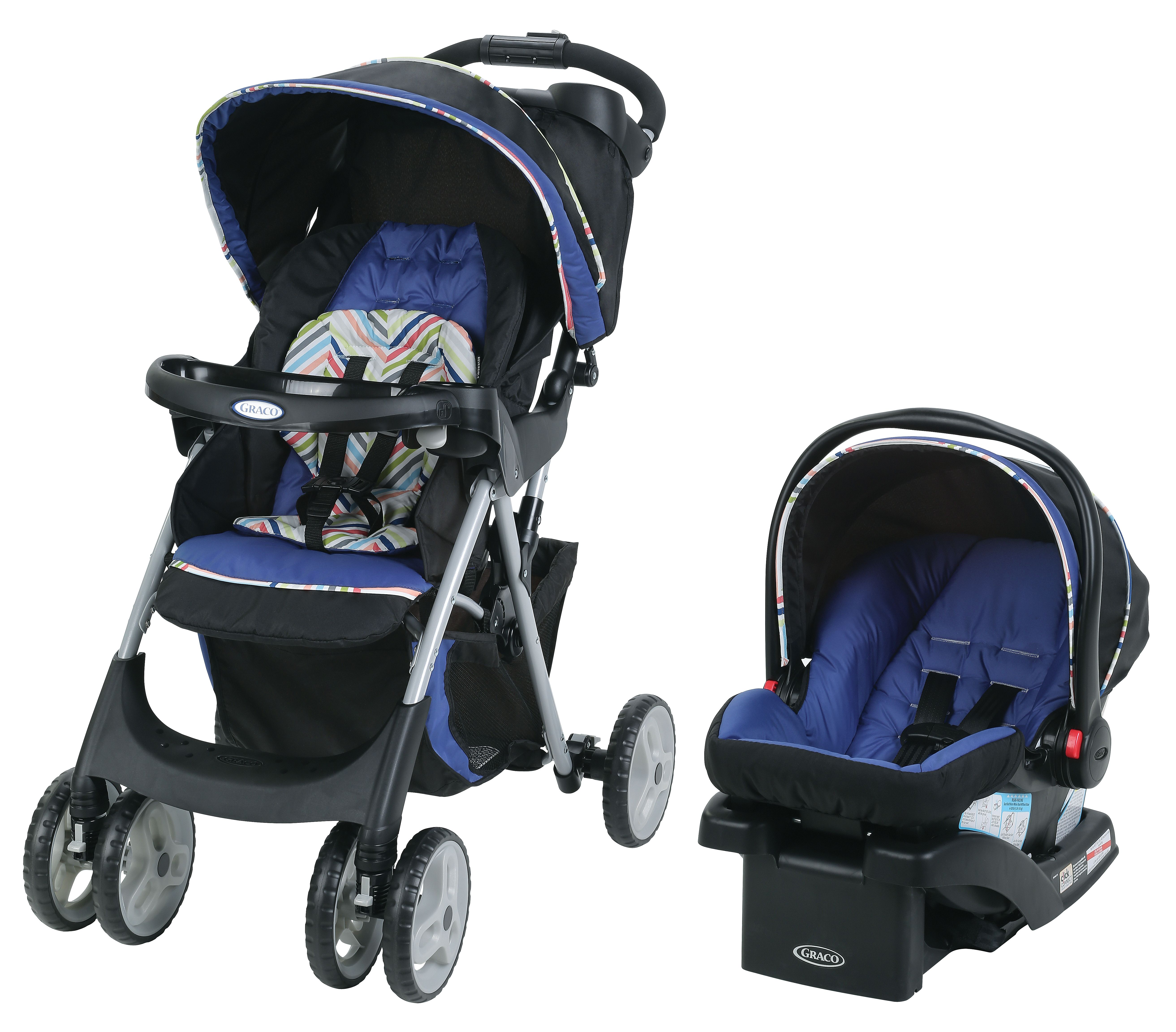 Cruiser click connect stroller travel system