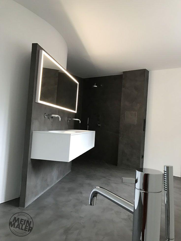 Fugenloses Badezimmer Mit Mikrozement   Maler Trynoga, Wuppertal