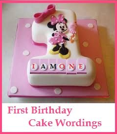 Birthday Cake Pictures With Messages : Birthday Cake Wordings Ideas! : What to write on 1st ...