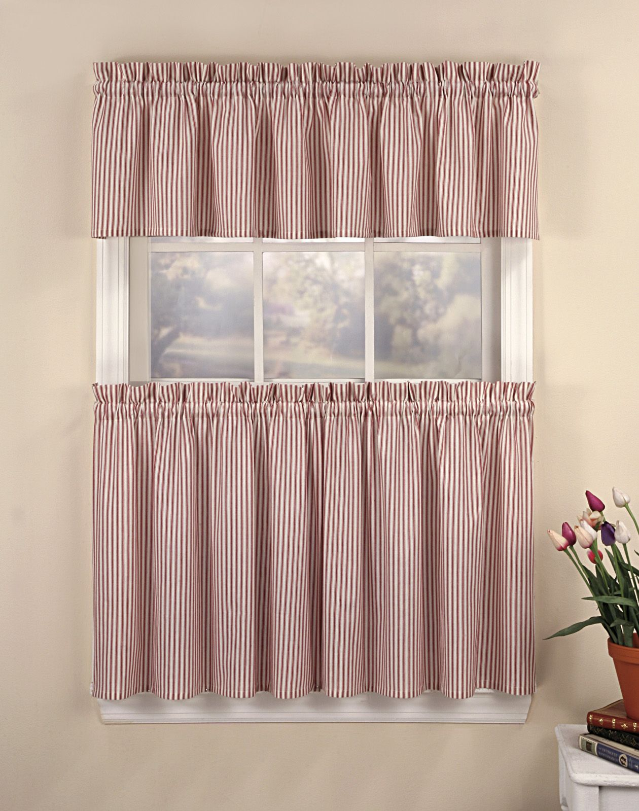 High Quality Kitchen Cafe Curtains Ticking Stripe Kitchen Curtain Tier Inspiration And  Design Ideas For Dream House Striped Cafe Kitchen Curtains Making Kitchen  Cafe ...