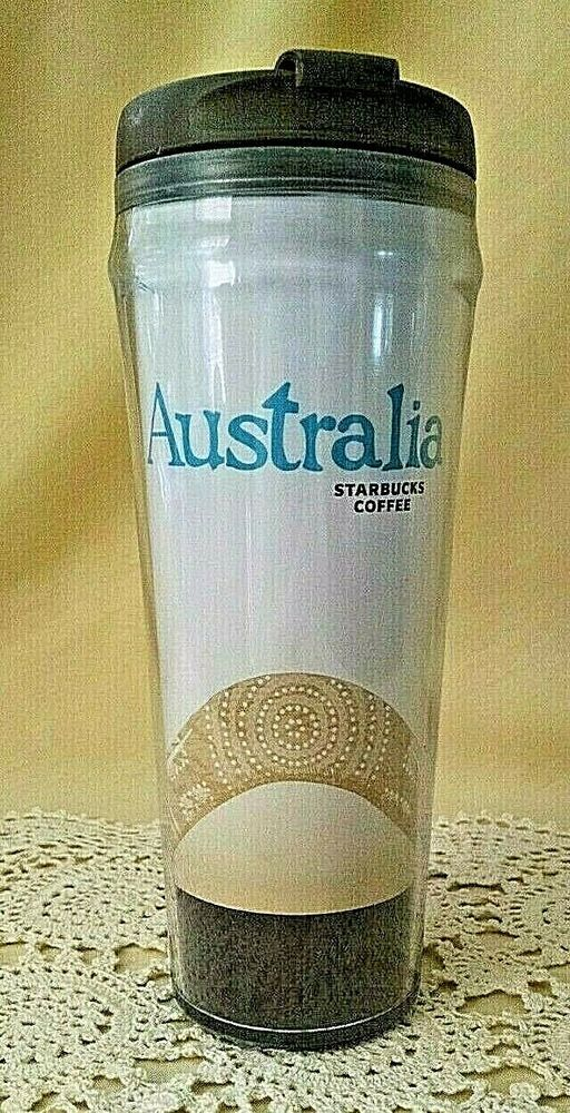 STARBUCKS MUG AUSTRALIA TALL PLASTIC TRAVEL COFFEE TEA CUP