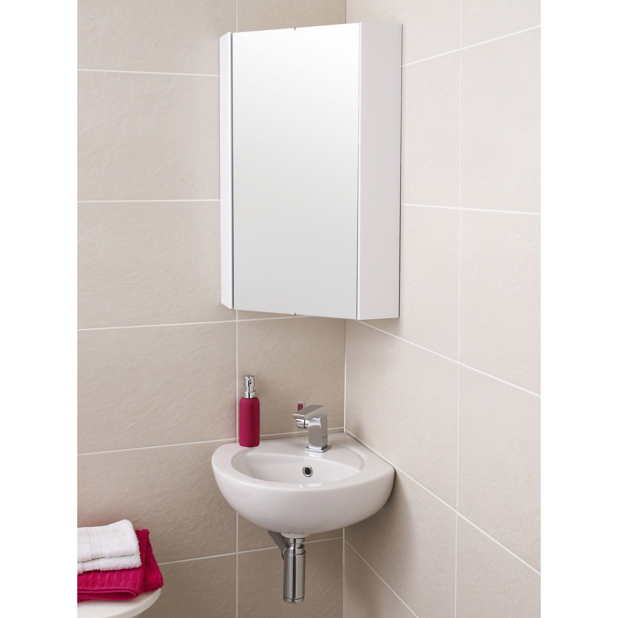 Mirrored bathroom cabinet without lights pedestal sink towel hager ...