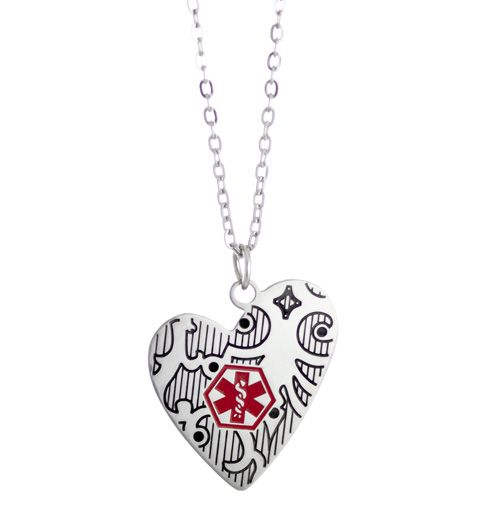 Close to my heart medical id necklace close to my heart medical id necklace laurens hope mozeypictures Image collections