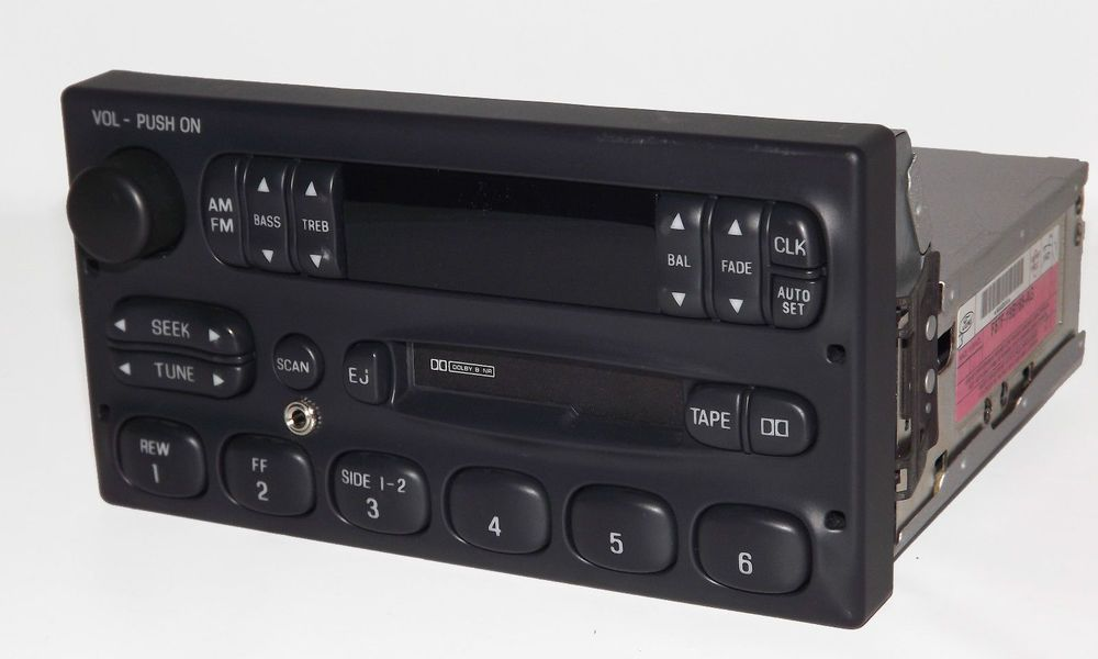ford 1995 2000 p100 am fm cassette radio w aux input for iphone rh pinterest com