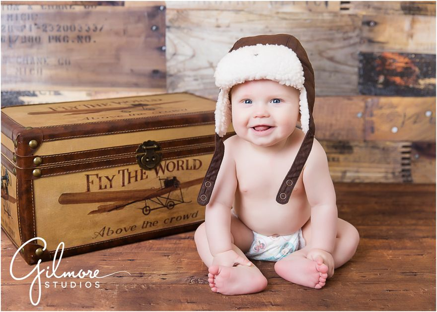 Baby griffins 6 month session newport beach baby photographer ca cali california