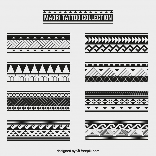 Maori tribal tattoo collection Vector | Free Download