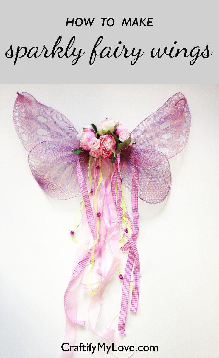 Diy Sparkly Butterfly Or Fairy Wings Diy Fairy Wings Diy Wings Fairy Wings